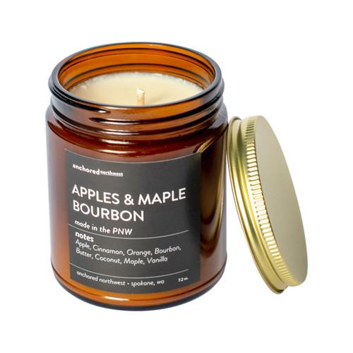 Apples Maple & Bourbon Amber Tumbler Candle