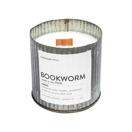 Bookworm Rustic Vintage Candle