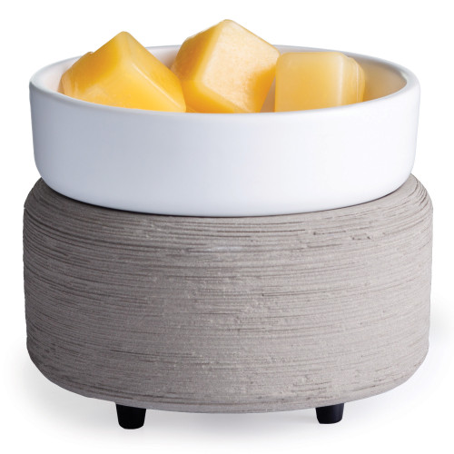 Gray Texture 2-in-1 Fragrance Warmer