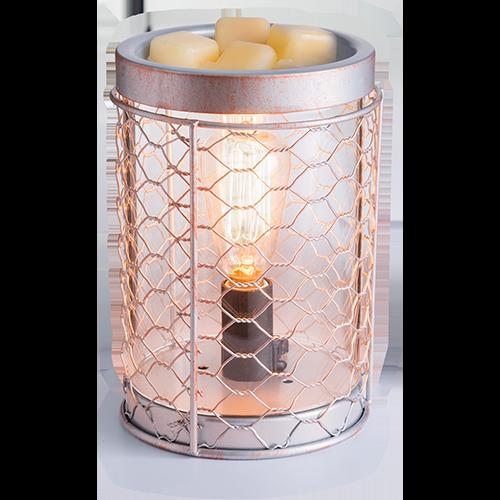 Chicken Wire Vintage Illumination Fragrance Warmer