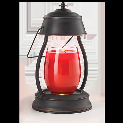 Rubbed Bronze Hurricane Lantern Candle Warmer