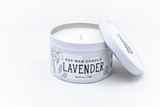 lavender natural soy candle tin handmade