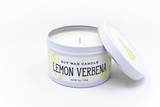 lemon verbena soy candle handcrafted