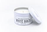 white birch candle tin soy