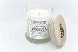 arugula soy candle glass jar handcrafted