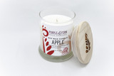 apple candle glass jar soy