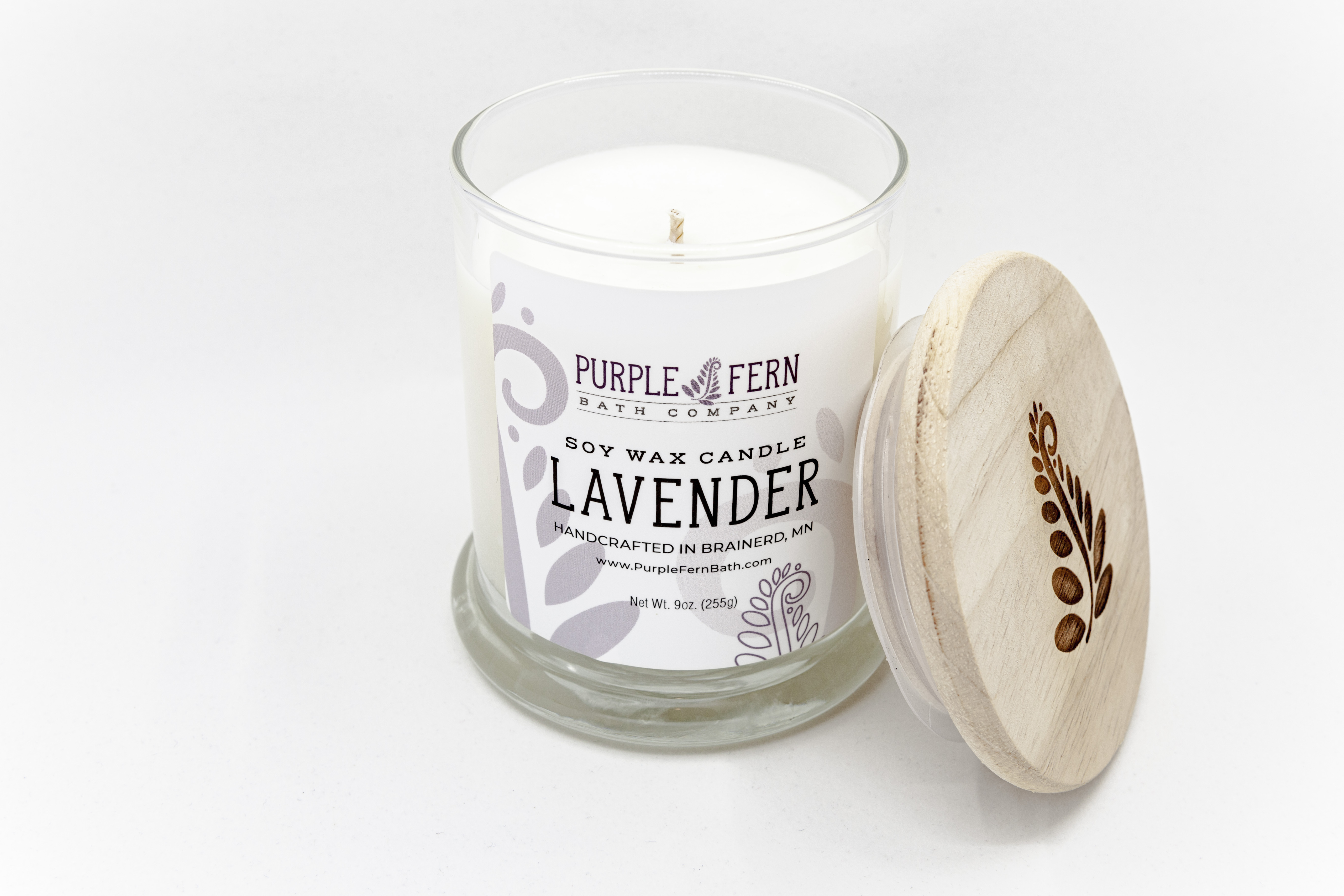lavender soy candle handcrafted mn