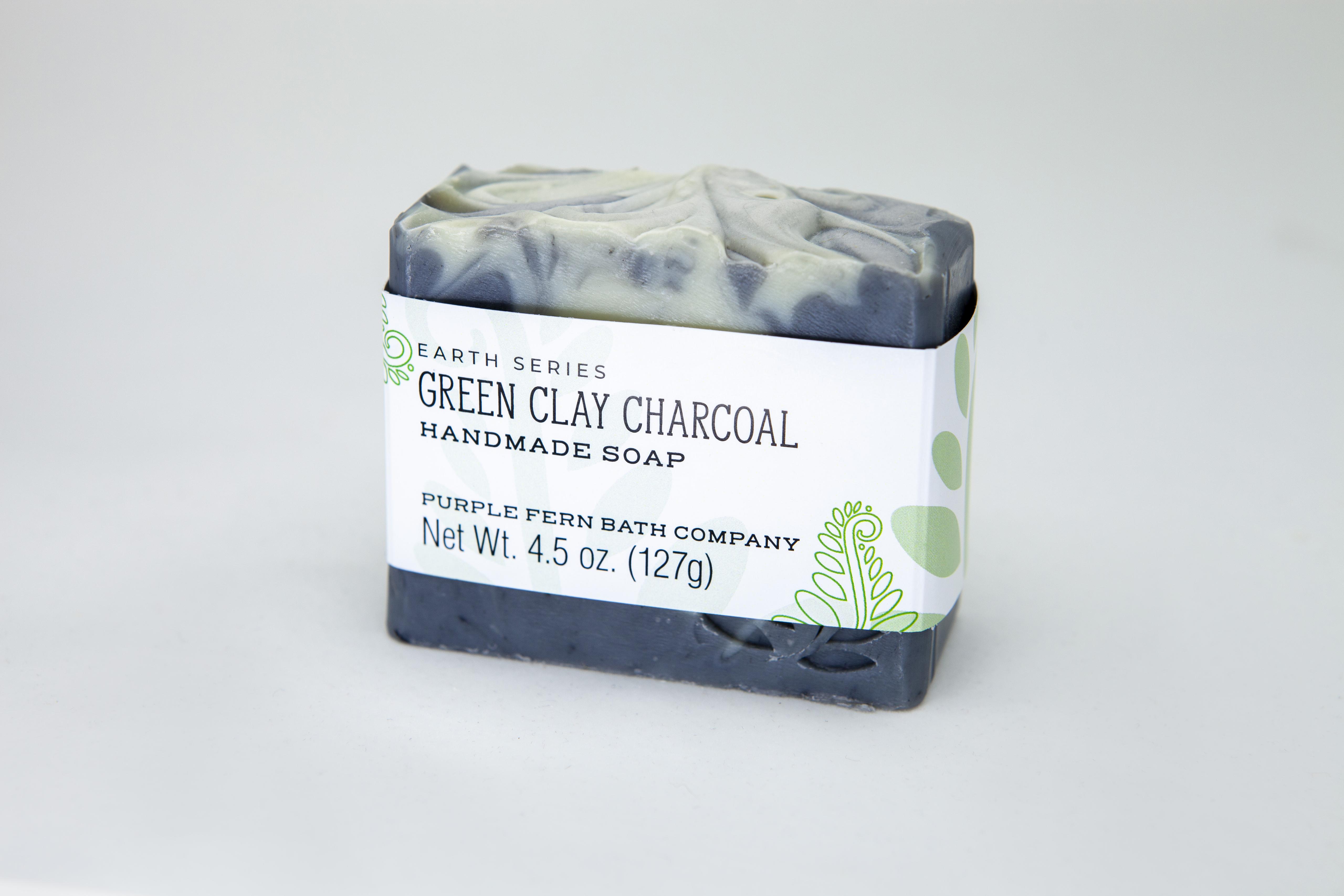 french green clay handmade bar soap essential oils