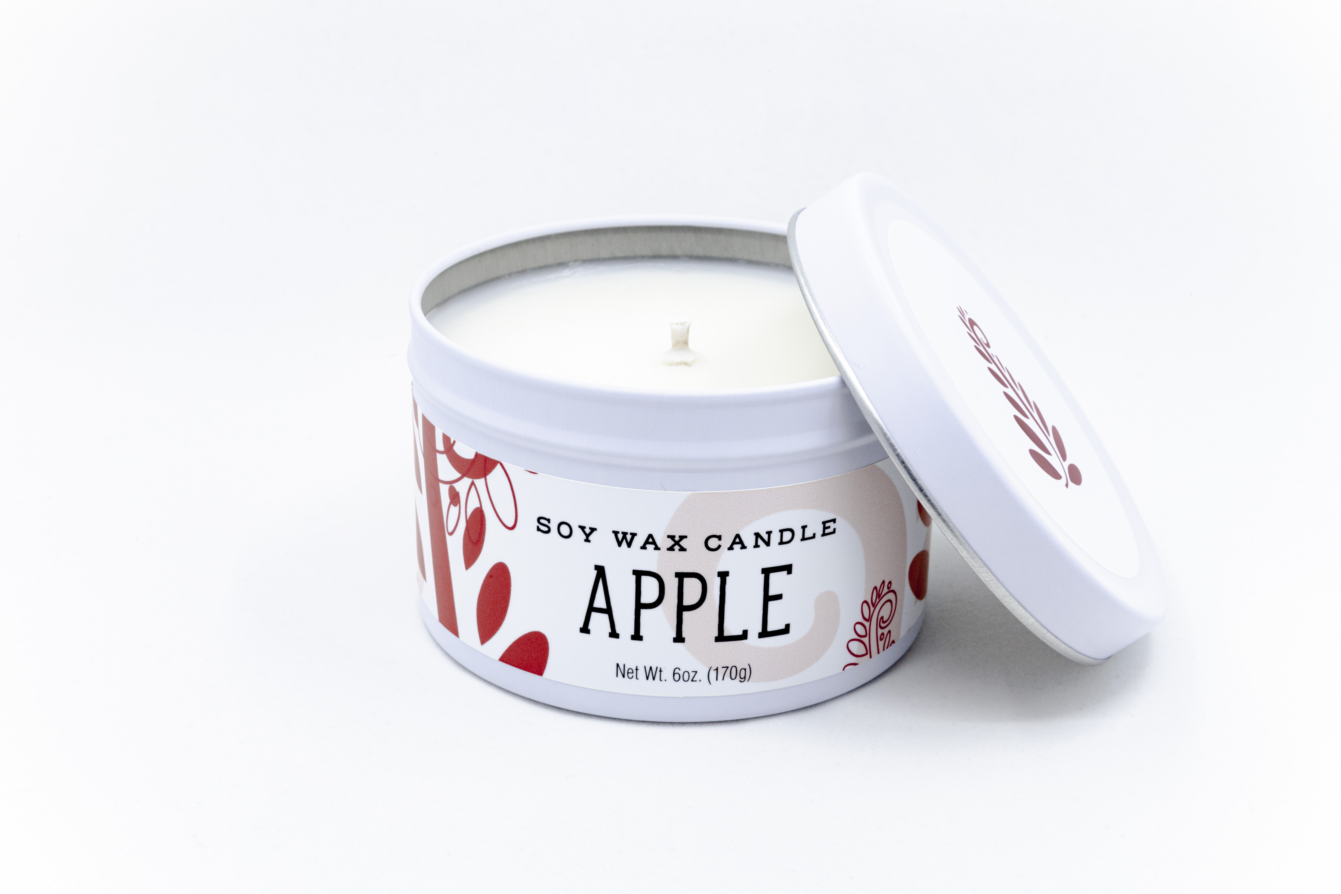 apple soy candle hand-poured