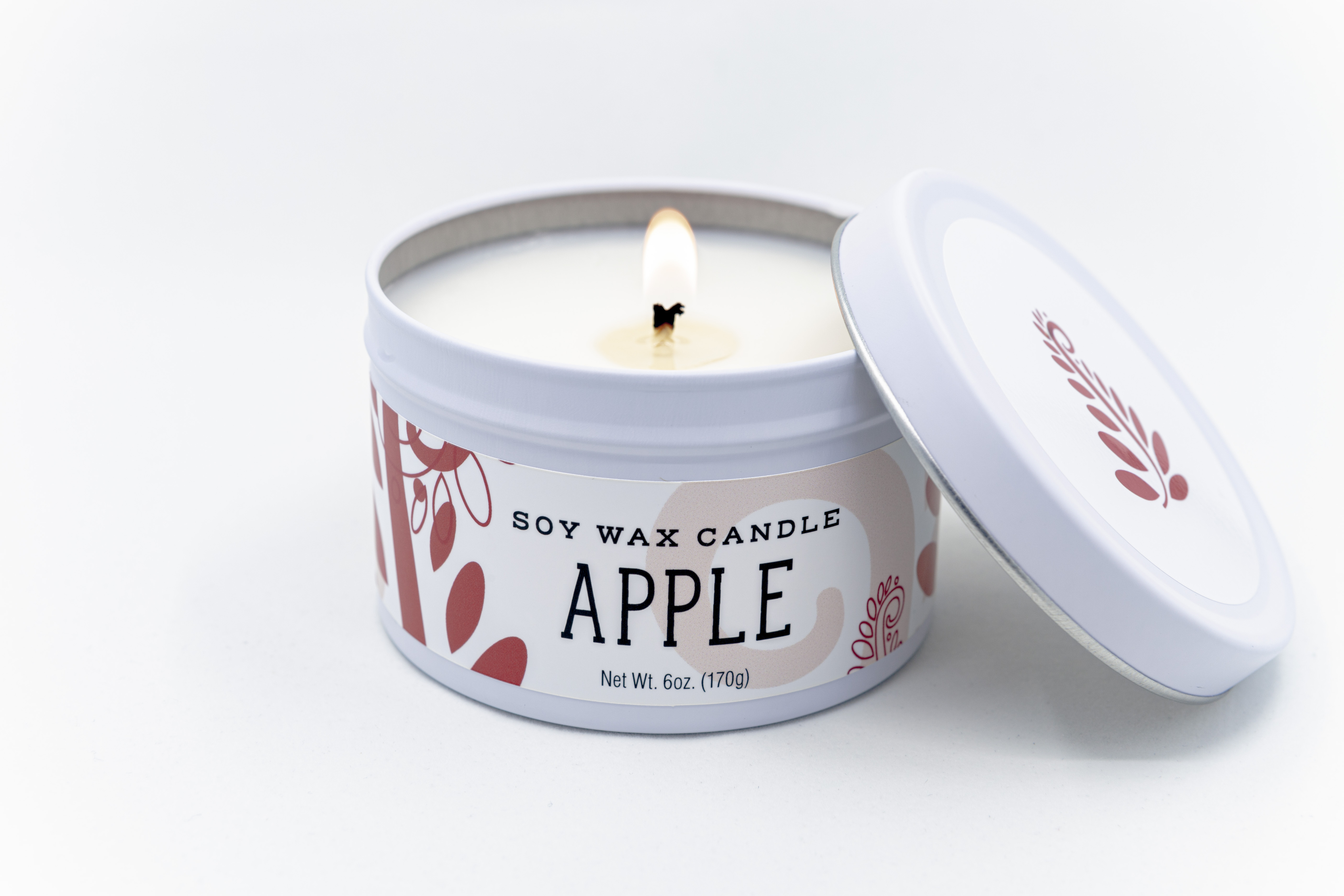 apple soy candle hand-poured mn