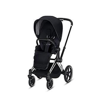 CYBEX ePriam Stroller with Chrome/Black Frame and Premium Black Seat