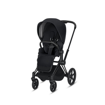 CYBEX Priam Stroller with Matte Black Frame and Premium Black Seat