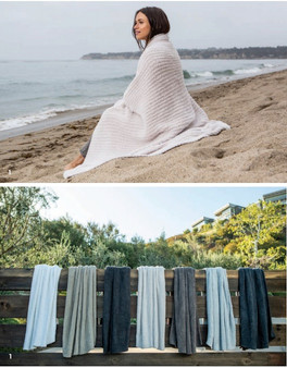 """Barefoot Dreams CozyChic® Ribbed Throw 54""""x72"""""""