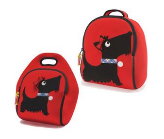 Dabbawalla Bonnie Scottie Backpack & Lunch Bag Set