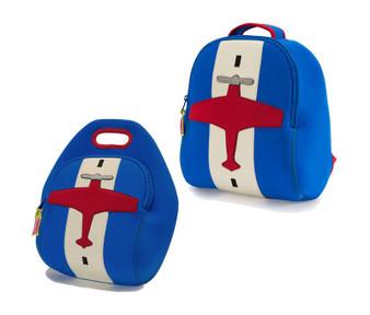 Dabbawalla Airplane Backpack & Lunch Bag Set