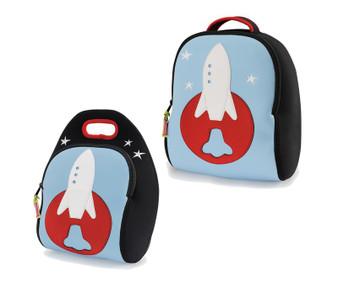 Dabbawalla Space Rocket Backpack & Lunch Bag Set