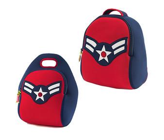 Dabbawalla American Vintage Flyer Backpack & Lunch Bag Set