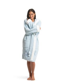 Barefoot Dreams CozyChic Frozen Disney Women's Robe, Ice Blue Multi