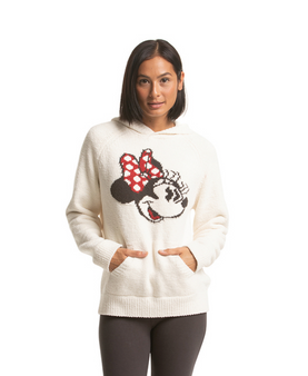 Barefoot Dreams CozyChic Classic Minnie Mouse Hoodie