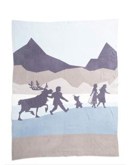 "Barefoot Dreams CozyChic Frozen Throw, Nordic Blue Multi - Size 54"" x 72"""