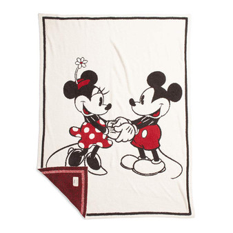 Barefoot Dreams CozyChic Classic Mickey & Minnie Mouse Baby Blanket