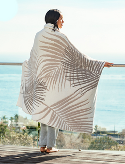 """Barefoot Dreams Cozychic Palm Leaf Blanket - Size 45"""" x 60"""""""