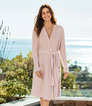 Barefoot Dreams CozyChic Lite Heathered Ribbed Robe
