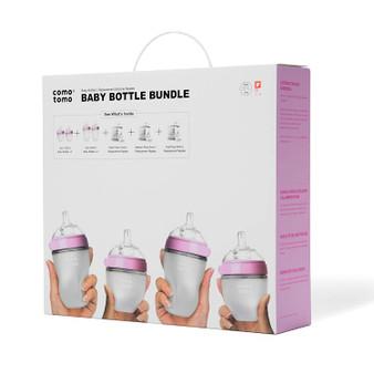 Comotomo Baby Bottle Bundle, Pink