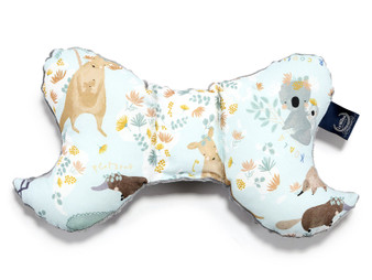 """La Millou Organic Cotton Head Support Pillow - Dundee and Friends - Blue, Size 9"""" x 14"""""""