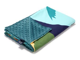 """La Millou Lightweight Blanket Waikiki boy - Deep Ocean, Size 32"""" x 40"""" in."""