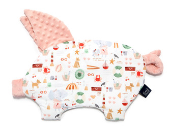 """La Millou Sleepy Pig Pillow French Riviera Girl - Powder Pink, Size 12"""" x 18"""" in."""