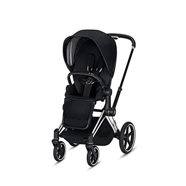 CYBEX Priam Stroller with Chrome/Black Frame and Premium Black Seat