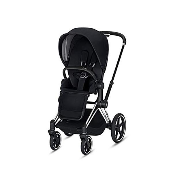 CYBEX Priam Stroller with Chrome/Black Frame and Premium Black Seat