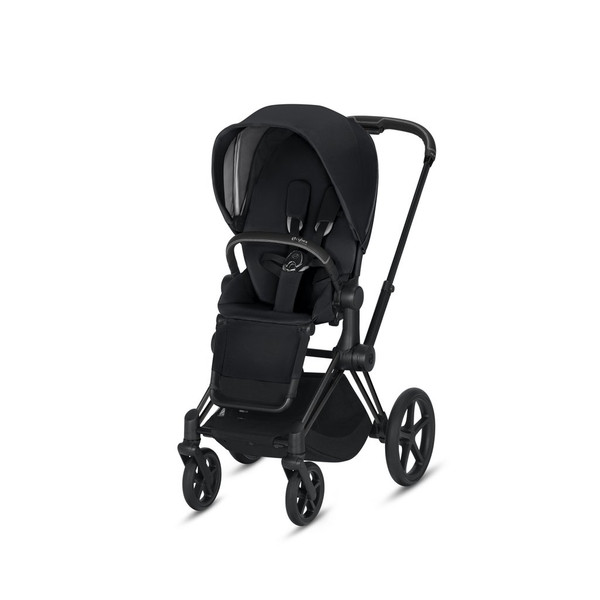 CYBEX Priam Stroller with Matte Black Frame and Premium Black Seat