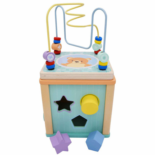 The Activity Play cube with beads shapes and sensory areas