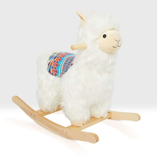 beautiful fluffy alpaca rocker
