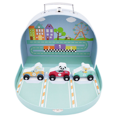 Grand Prix racing toy in carry case