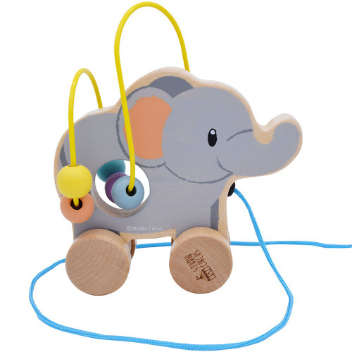elephant bead coaster toy