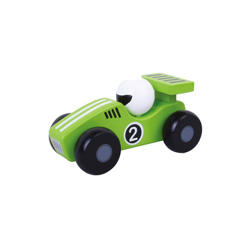 green racing car