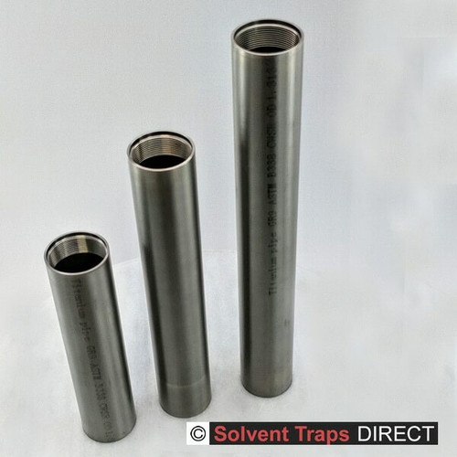 B Cell, Titanium, Solvent Trap, 6 in, 8 in, 10 in Tubes, Ti