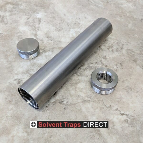 D-Cell Titanium Solvent Trap Kit 8 in Quick Attach Adapter