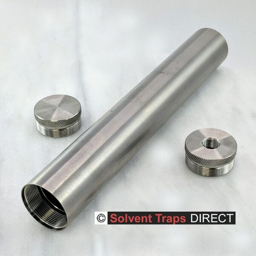 D-Cell Titanium Solvent Trap 10 in Kit End Cap, Thread protector 1-2x28 Unfinished