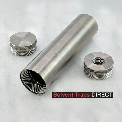 D-Cell Titanium Solvent Trap Kit 6 in - 5/8x24 Thread Protector ST_D-Cell_6in_Kit_Ti_EC_TP_5-8x24_UF