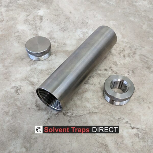 D-Cell Titanium Solvent Trap 6 in Kit with QAA Unfinished ST_D-Cell_6in_Kit_Ti_EC_QAA_UF