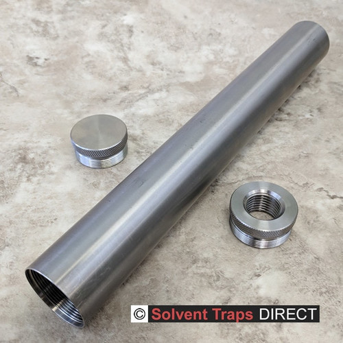 D-Cell Titanium Solvent Trap 12 in Kit with QAA Unfinished ST_D-Cell_12in_Kit_Ti_EC_TP_QAA_UF