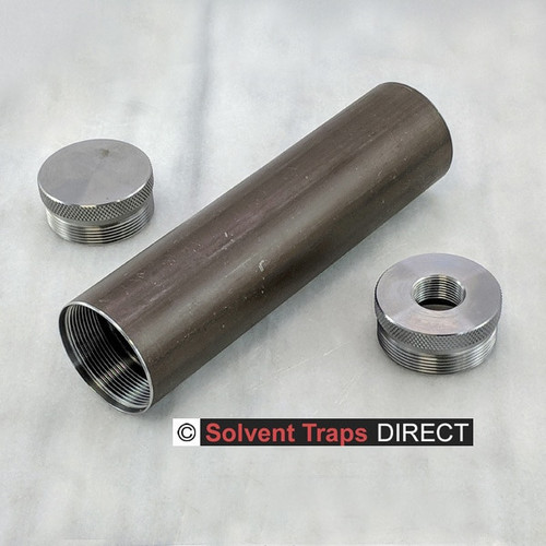 Sorry this image is of a kit with EC & TP - we'll get a QAA pic up soon!  D-Cell Carbon Steel Solvent Trap Kit 6 in QAA unfinished Carbon steel ST_D-Cell_6in_Kit_CS_QAA