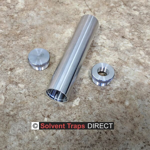 C-Cell Unfinished Aluminum Solvent Trap Kit 6 inch with Quick Attach Adapter ST_C-Cell_6in_Kit_EC_QAA_Al_UF