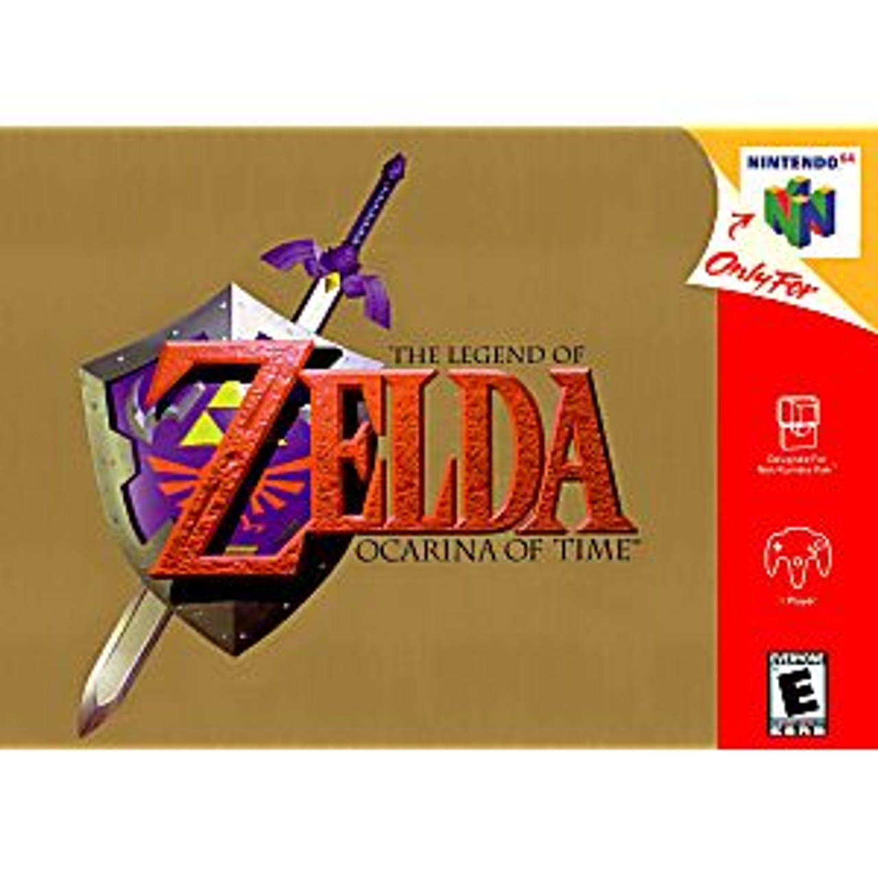 ZELDA OCARINA OF TIME GOLD COLLECTORS EDITION - N64