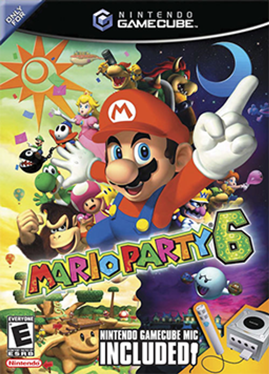 MARIO PARTY 6 WITHOUT MICROPHONE  - GAMECUBE