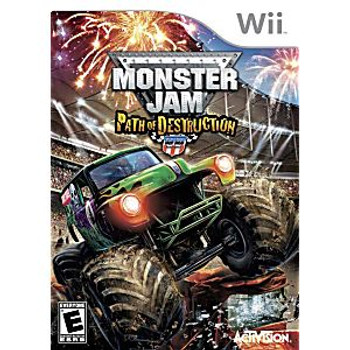 MONSTER JAM: PATH OF DESTRUCTION WITH WHEEL - WII
